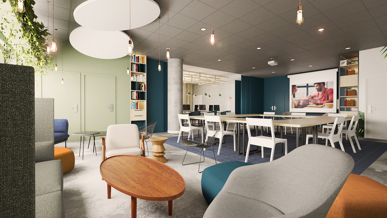 coworking space of the Tulip Residences of Joinville-le-Pont Paris-Est France